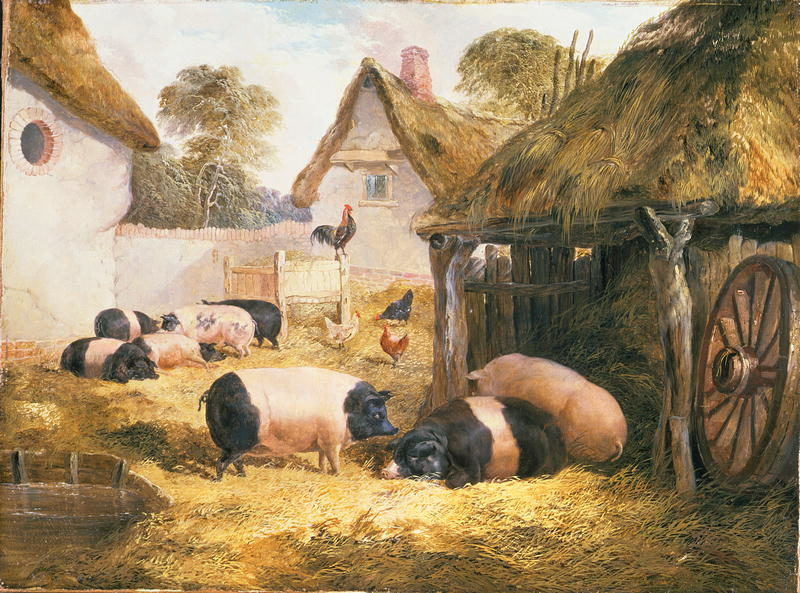 Cottage Hospitality   William Collins   oil painting
