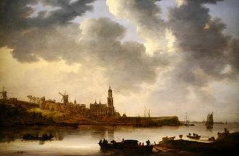A View across the Rhine at Rhenen 1648 | Jan Josephsz van Goyen | oil painting