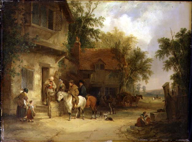 Halfway House Painting By William Shayer