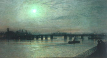 Battersea Bridge 1885 | John Atkinson Grimshaw | oil painting