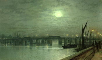 Battersea Bridge by Moonlight | John Atkinson Grimshaw | oil painting