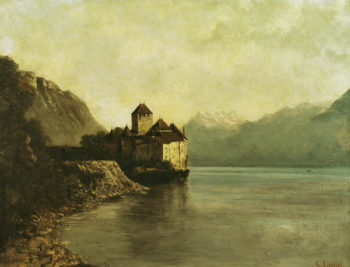 Chateau de Chillon 1874 | Gustave Courbet | oil painting