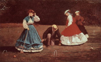 Croquet Scene | Winslow Homer | oil painting