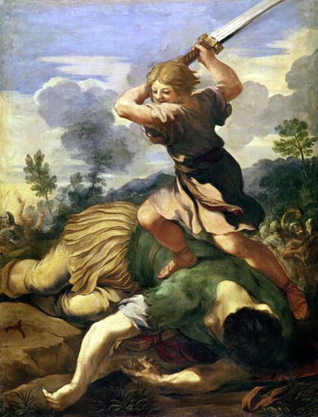 David Killing Goliath Painting Pietro Da Cortona Oil