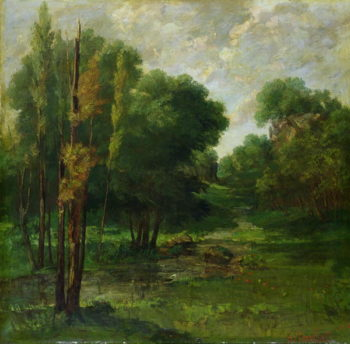 Forest Landscape 1864 | Gustave Courbet | oil painting