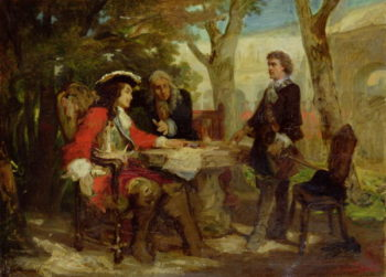 Meeting between Jean Cavalier | Jules Salles Wagner | oil painting