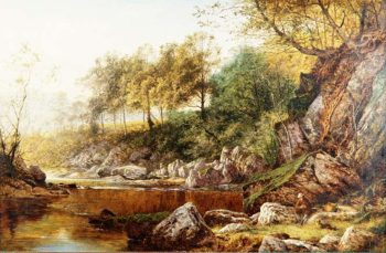 On the River Conway | Benjamin William Leader | oil painting