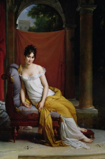 Portrait of Madame Recamier | Francois Pascal Simon Baron Gerard | oil painting
