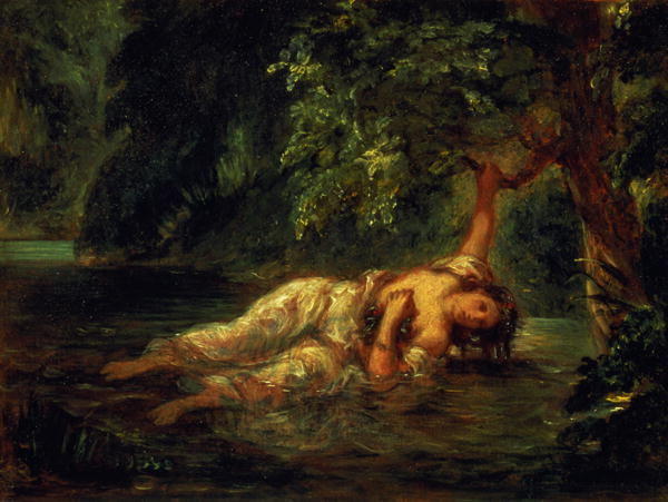 The Death of Ophelia 1844 | Delacroix | oil painting