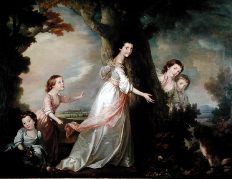 The Five Sisters | Benjamin Wilson | oil painting