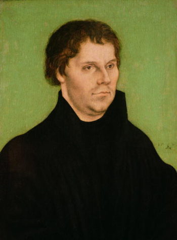 Portrait of Martin Luther 1525 | Lucas the Elder Cranach | oil painting