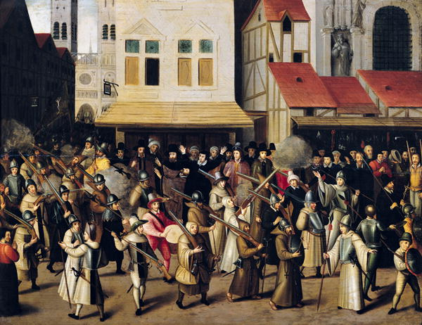 Procession of the Holy League in 1590 | Francois Bunel | oil painting