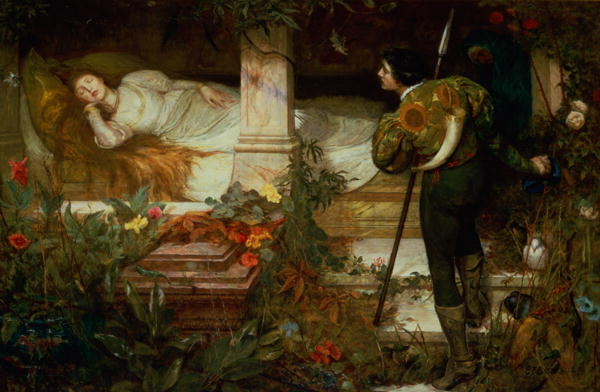 Image result for sleeping beauty oil painting