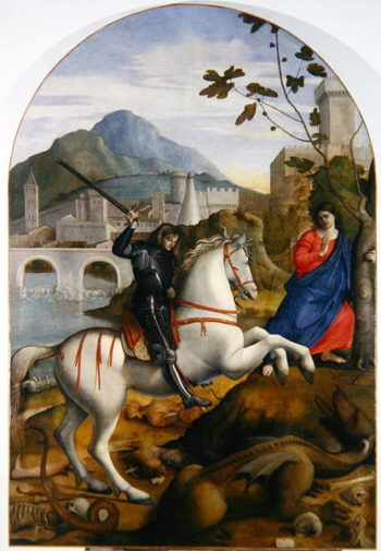St George and the Princess | Marco Basait | oil painting