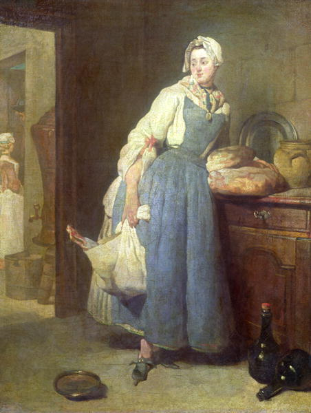 Interior Kitchen Maid the kitchen maid with provisions 1739 painting jean baptiste simeon chardin oil painting