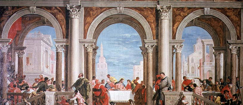 The Feast in the House of Levi Painting | Veronese Oil ...