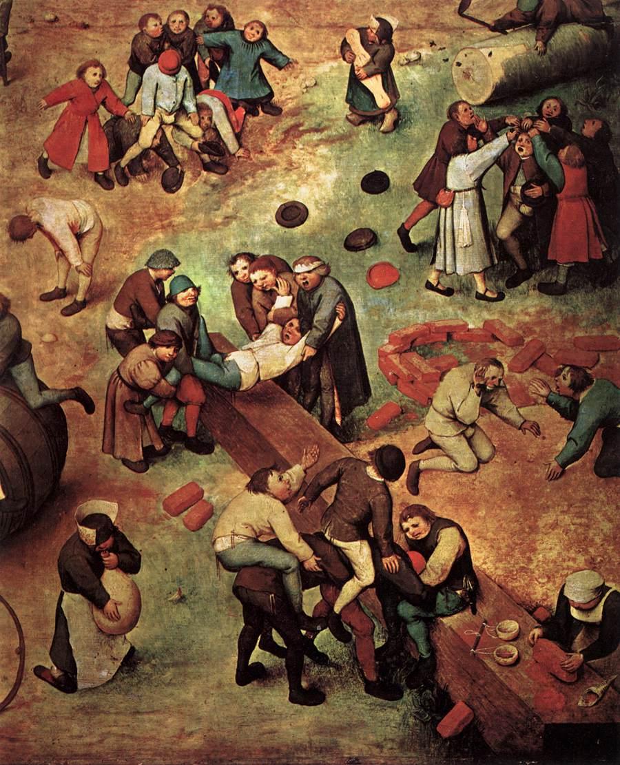Children\'s Games (detail) 1559-60 Painting | Pieter The Elder ...