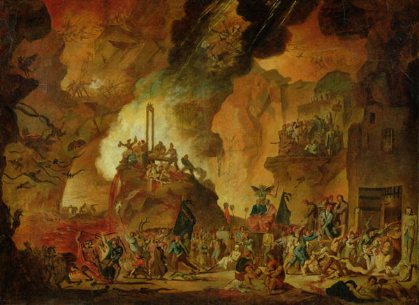 the triumph of the guillotine in hell painting nicolas