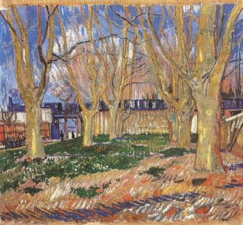 Avenue of Plane Trees near Arles Station | Vincent Van Gogh | oil painting