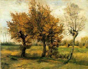 Autumn Landscape with Four Trees | Vincent Van Gogh | oil painting