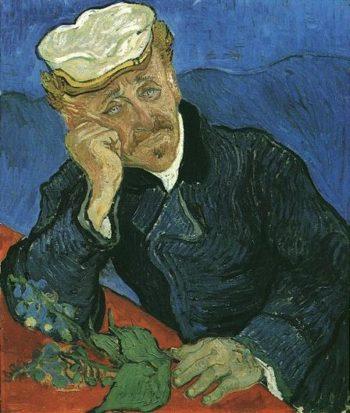 Portrait of Doctor Gachet | Vincent Van Gogh | oil painting