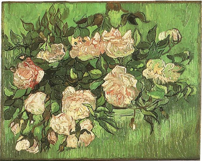 Still life pink roses painting vincent van gogh oil paintings still life pink roses vincent van gogh oil painting mightylinksfo