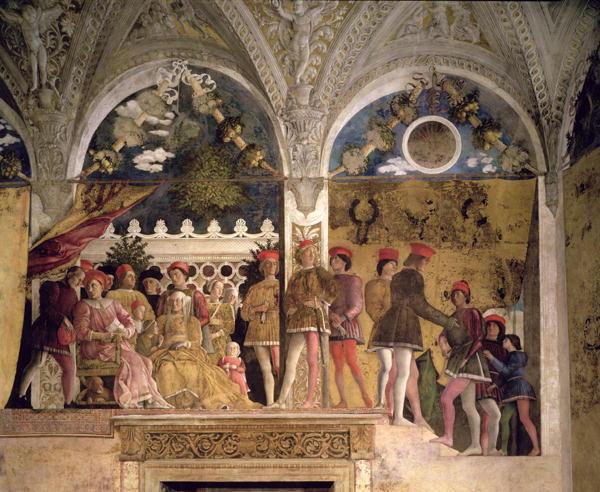 Marchese ludovico gonzaga iii of mantua painting andrea for Camera picta mantegna