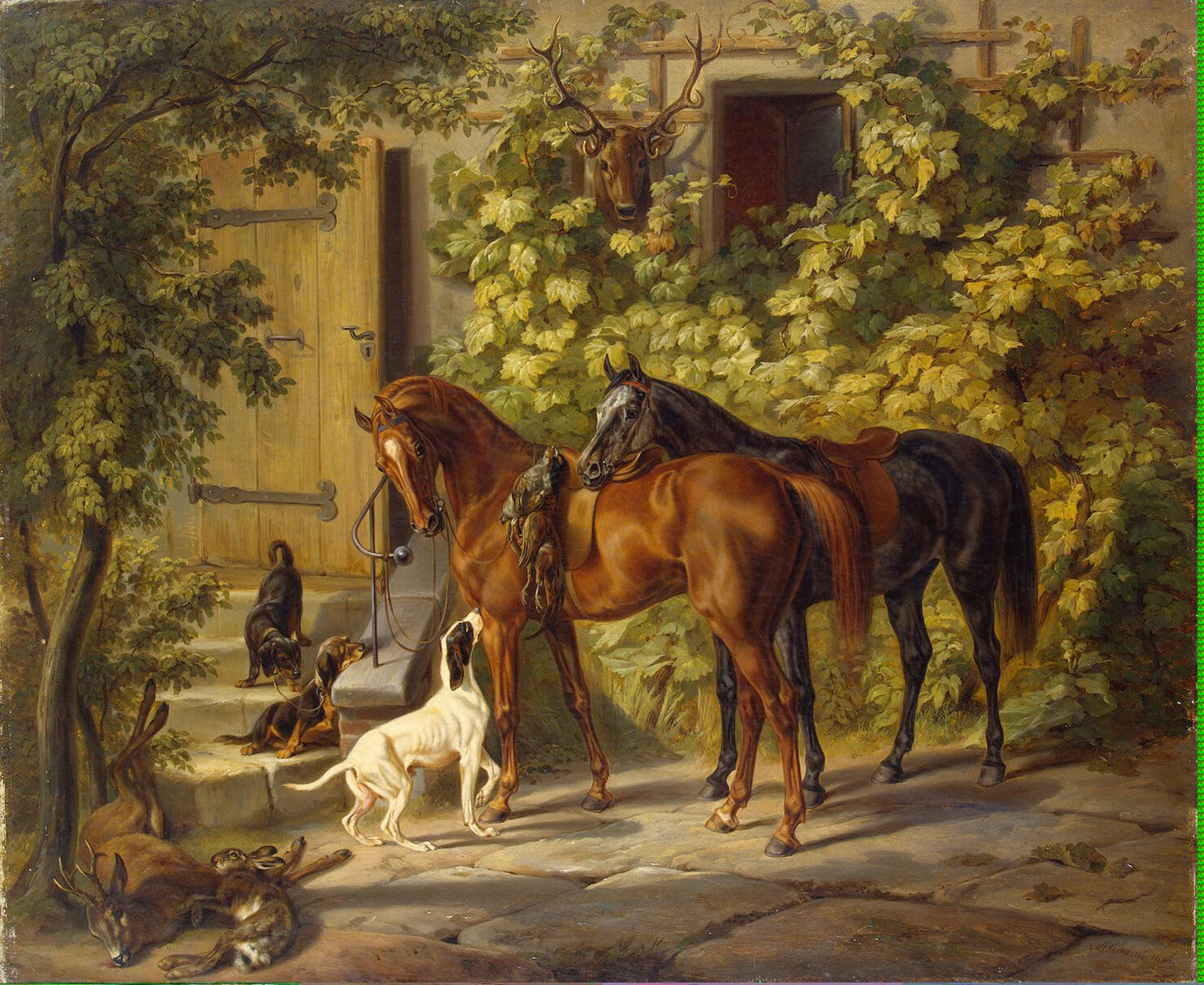 Horses at the P...