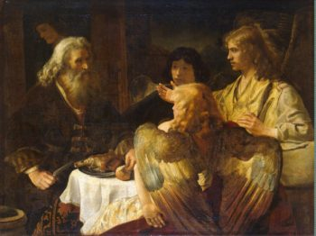 Abraham and the Three Angels | Rembrandt | oil painting