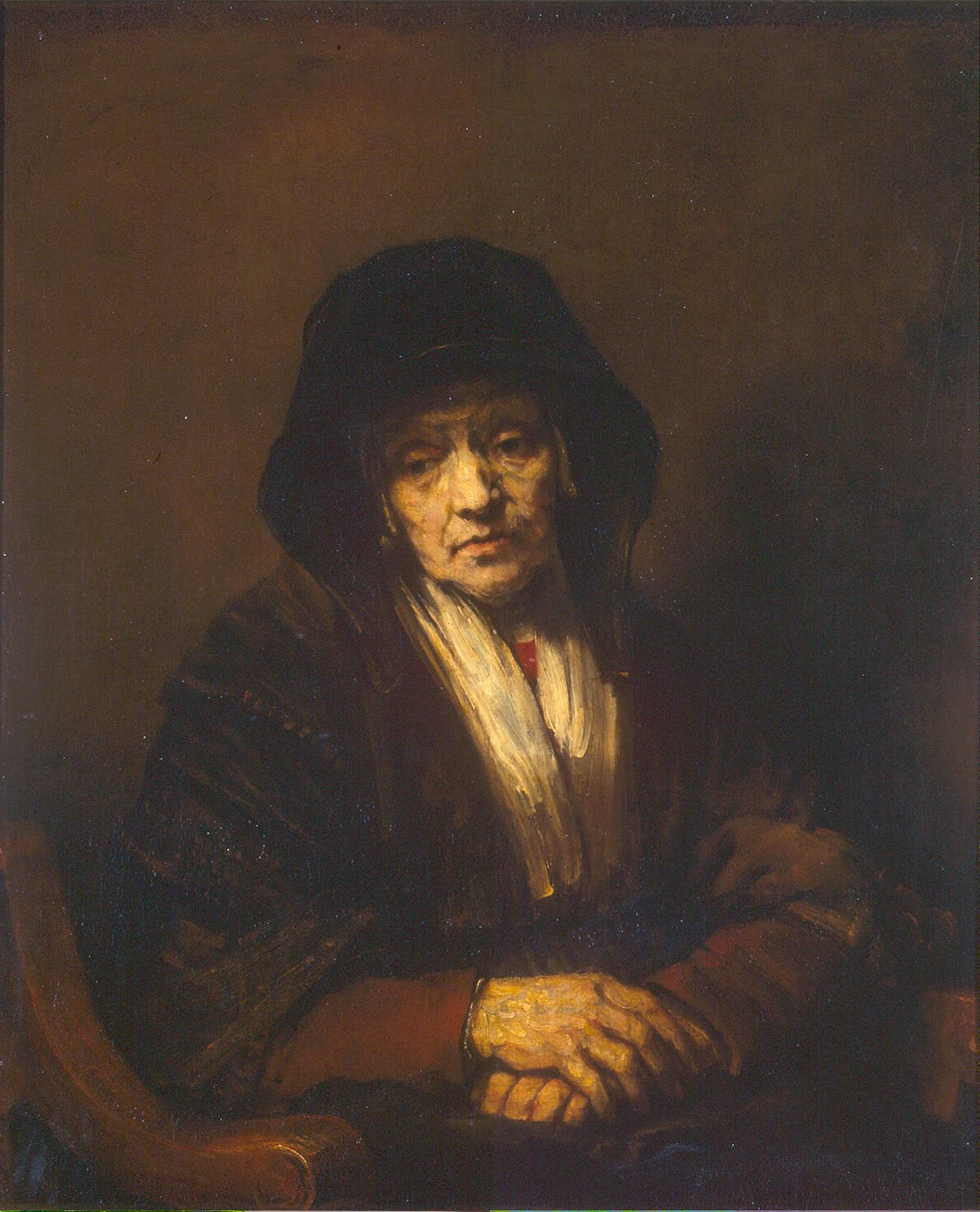portrait of an old woman painting rembrandt oil paintings