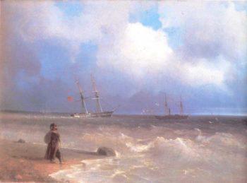 Sea Coast   Ivan Aivazovsky   oil painting