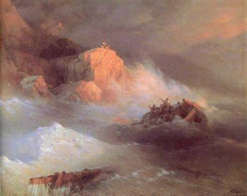 Shipwreck   Ivan Aivazovsky   oil painting