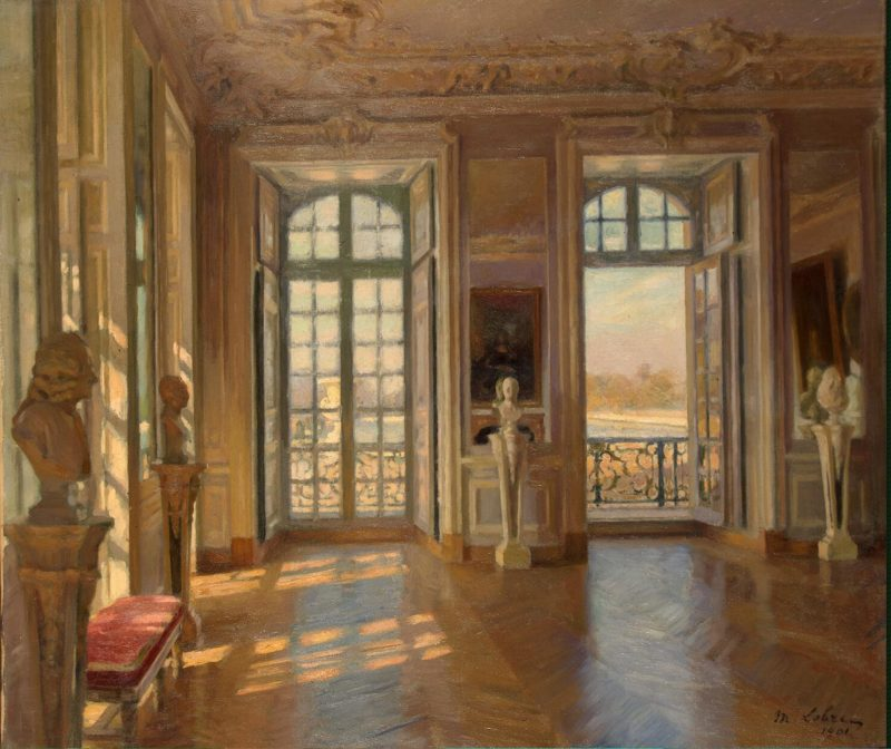 Dauphins Salon at Versailles   Lobre Maurice   oil painting