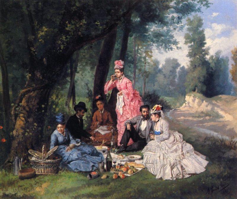 The Picnic | Antonio Garcia y Mencia | oil painting