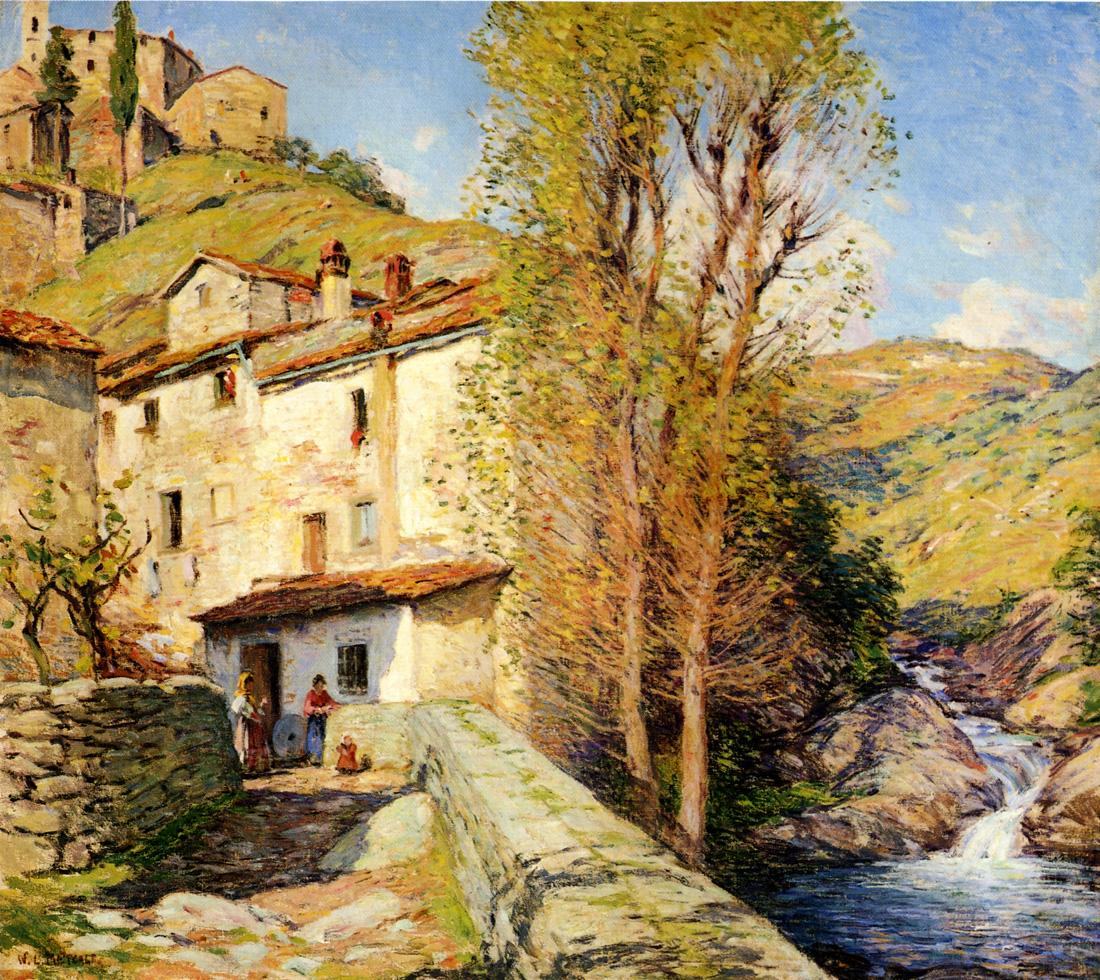 old mill pelago italy 1913 painting willard leroy