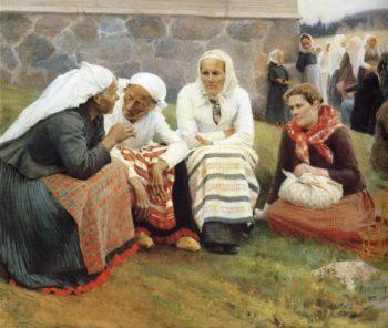 The gossip | Albert Edelfelt | oil painting