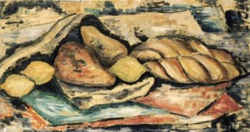 Still LIfe with Bread and Fruit | Marsden Hartley | oil painting