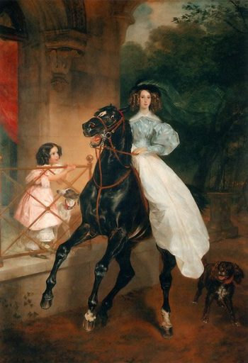 The Rider 1832   Karl Brullov   oil painting
