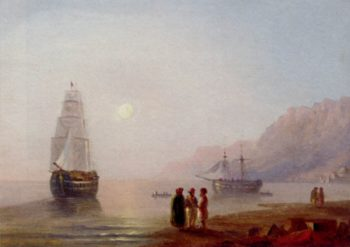 A Conversation On The Shore Dusk | Ivan Aivazovsky | oil painting