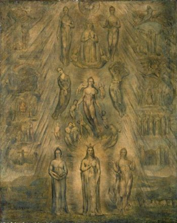 An Allegory of the Spiritual Condition of Man   William Blake   oil painting