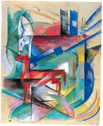 Landscape with Animals | Franz Marc | oil painting