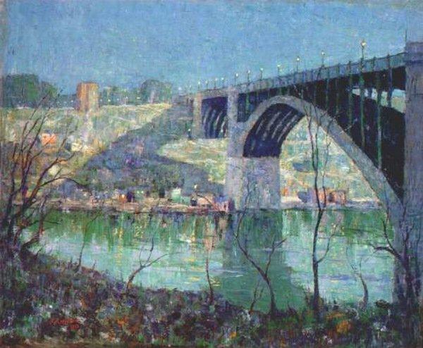 Spring Night Harlem River | Ernest Lawson | oil painting