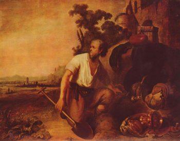 Das Gleichnis vom Schatzgraber   Rembrandt Harmensz. van Rijn   oil painting