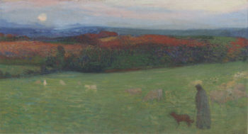 A field with figure 1886 | Henri Martin | oil painting