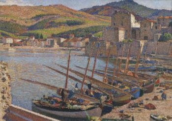 Barques a Collioure | Henri Martin | oil painting