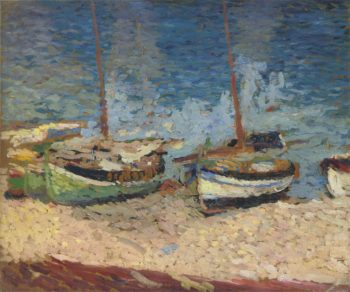 Boats in Port Collioure | Henri Martin | oil painting
