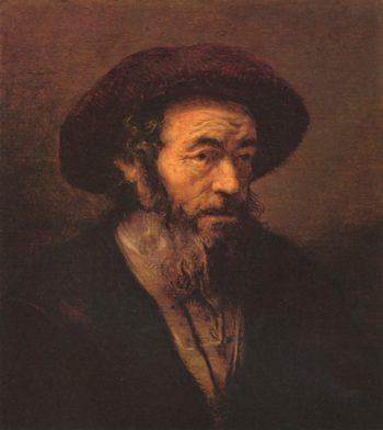 Alter Mann mit Pelzkappe. English Title - Man with a beard. Nederlands: Man met een baard. | Rembrandt Harmensz. van Rijn | oil painting