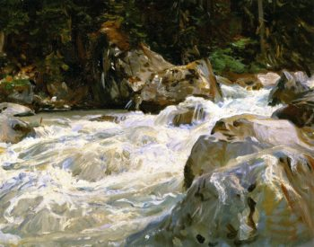 A Torrent in Norway | John Singer Sargent | oil painting