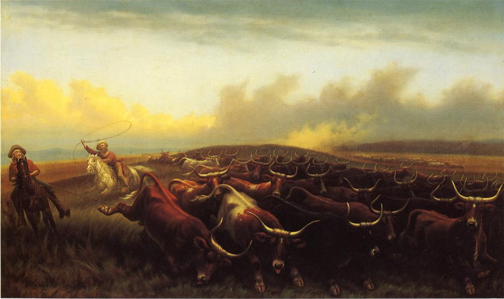 Cattle drive no 1 painting james walker oil paintings cattle drive no 1 james walker oil painting thecheapjerseys Images