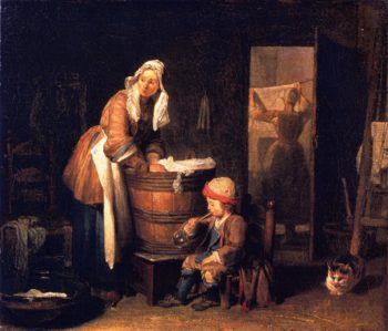 The Washerwoman | Jean Baptiste Simeon Chardin | oil painting